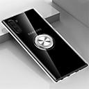 voordelige Galaxy Note-serie hoesjes / covers-hoesje Voor Samsung Galaxy Note 9 / Note 8 / Galaxy Note 10 Ringhouder Achterkant Transparant TPU / Metaal