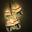 povoljno LED svjetla u traci-3m božićne lampice za snježne pahuljice 20 led toplih bijelih prazničnih ukrasnih 5v 1set
