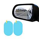 رخيصةأون جسم السيارة الديكور والحماية-2PCS سيارة الجانب نافذة فيلم واقية لمكافحة الضباب غشاء مقاوم للماء وهج سيارة ملصقا البيضاوي 100 * 150MM