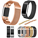 voordelige Galaxy A3(2016) Hoesjes / covers-Horlogeband voor Fitbit Charge 2 Fitbit Sportband Roestvrij staal Polsband