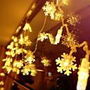 povoljno LED svjetla u traci-5m snježne pahulje vilinski niz svjetla 50 led toplo bijeli božićni novogodišnji ukrasni 220-240 v 1 set