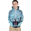 povoljno Zaštitne folije za Huawei-Djeca Dijete koje je tek prohodalo Dječaci Aktivan Osnovni Tigrasto Geometrijski oblici Print Leopard Print Dugih rukava Trenirka s kapuljačom Svjetloplav / Životinja