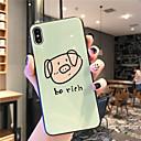 رخيصةأون أغطية أيفون-غطاء من أجل Apple iPhone XS / iPhone XR / iPhone XS Max نحيف جداً / نموذج غطاء خلفي جملة / كلمة / حيوان / كارتون TPU