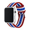 voordelige iPhone X screenprotectors-mode band voor Apple Watch-serie 4 3 2 1 nylon band voor iwatch klassieke stijlen kleurenpatroon met adapters 44 mm / 40 mm / 38 mm / 42 mm