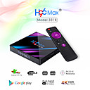povoljno Motociklističke rukavice-h96 max pametni android 9.0 tv box rk3318 quad core 64 bit uhd 4k vp9 h.265 4gb / 64gb 2.4g / 5g wifi bt4.0 hd media player tv box