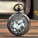 رخيصةأون ساعات الرجال-رجالي ساعة جيب كوارتز فينتاج أسود إبداعي تصميم جديد تناظري-رقمي عتيق - أسود