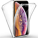 voordelige iPhone-hoesjes-hoesje voor Apple iPhone XS / iPhone XR / iPhone XS max schokbestendig / stofdicht full body hoesjes transparant TPU / pc