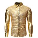 رخيصةأون قمصان رجالي-رجالي أساسي ترتر / بقع قميص, ألوان متناوبة