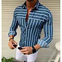 povoljno Muške košulje-Majica Muškarci Dnevno Prugasti uzorak Rese Bijela / Dugih rukava