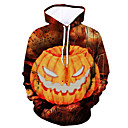 povoljno iPhone maske-Muškarci Aktivan / Halloween Hoodie Color block