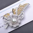 povoljno Broševi-Žene Slatkovodni biser Broševi Cvijet Flower Shape Mašnice Korejski Elegantno Biseri Pozlaćeni Broš Jewelry Gold / bijela Za Party Dar Praznik Festival