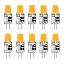ieftine Becuri LED Bi-pin-10pcs 5 W Becuri LED Bi-pin 300 lm G4 T 1 LED-uri de margele COB Alb Cald Alb 12 V