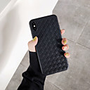 voordelige iPhone 6 Plus hoesjes-hoesje voor apple iphone xs / iphone xr / iphone xs max ultradunne achterkant effen gekleurd / geometrisch patroon pu leer