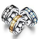 ieftine Inele-Bărbați Pentru femei Band Ring Inel Tail Ring 1 buc Negru Auriu Albastru Oțel titan Circular Vintage De Bază Modă Zilnic Bijuterii Coroane