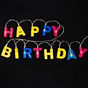 povoljno LED svjetla u traci-1,2m sretan rođendan slova svjetla žica 13 led više boja ukrasnih praznika 5v 1set
