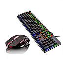 رخيصةأون ساعات ذكية-LITBest Q1Stars USB سلكي كومبو لوحة المفاتيح الماوس لون متغاير / الخلفية لوحة المفاتيح الميكانيكية / لوحة مفاتيح الألعاب الألعاب / ميكانيكي لعب الفأر 2400 dpi
