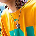 رخيصةأون خواتم-رجالي قلائد الحلي منقوش Tiger عبارة الحديث الصلب التيتانيوم ذهبي فضي 55 cm قلادة مجوهرات 1PC من أجل هدية مدرسة شارع نادي وعد