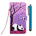 رخيصةأون أغطية أيفون-الحال بالنسبة لتفاح iphone xr / iphone xs max wallet / holder card / with stand الحالات الكاملة الجسم الكرز blossom panda pu leather for iphone 6s / 6s plus / 7/7 plus / 8/8 plus / x / xs