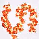 رخيصةأون أزهار اصطناعية-1 قطعة محاكاة العنب ورقة ثلاثية الأبعاد الفجل الأخضر ورقة وهمية زهرة الروطان سقف كبير الخضراء الهندسة الديكور فاين العلية سقف مطعم غرفة المعيشة الديكور زهرة نبات أخضر