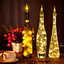 ieftine Abajure Perete-2m Fâșii de Iluminat 20 LED-uri Alb Cald / RGB / Alb Draguț / Creative / Petrecere Baterii alimentate 10pcs