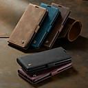 Недорогие Чехлы и кейсы для Galaxy Note 8-Кейс для Назначение SSamsung Galaxy Galaxy Note 10 / Galaxy Note 10 Plus Кошелек / Бумажник для карт / Защита от удара Чехол Однотонный Кожа PU