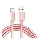 رخيصةأون شواحن لاسلكية-كابل لايتنينج 1.0m (3ft) مضفر / فائق السرعة / محول سريع من كبل النايلون USB لأجهزة ipad / iphone