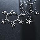 ieftine Colier la Modă-Pentru femei Brățări cu Lanț & Legături Brățări cu Talismane Cercei Picătură #D Stea de mare Stilat Design Unic Argilă cercei Bijuterii Argintiu Pentru Zilnic Muncă 1set / Coliere cu Pandativ