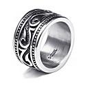 ieftine Inele-Bărbați Band Ring Inel Tail Ring 1 buc Argintiu Oțel titan Circular Vintage De Bază Modă Cadou Zilnic Bijuterii Cool
