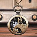 رخيصةأون ساعات الرجال-رجالي ساعة جيب كوارتز فينتاج إبداعي تصميم جديد تناظري-رقمي عتيق - أسود برونز فضي