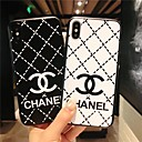 voordelige iPhone-hoesjes-hoesje Voor Apple iPhone XS / iPhone XR / iPhone XS Max Ultradun / Patroon Achterkant Woord / tekst / Geometrisch patroon TPU