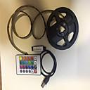 povoljno Kompleti svjetala-2m Savitljive LED trake / RGB svjetleće trake / Daljinski upravljači 60 LED diode SMD5050 1 24Ključuje daljinski upravljač / 2 x USB priključna crta RGB USB / Party / Ukrasno USB napajanje 1set