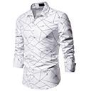 povoljno Muške košulje-Majica Muškarci - Osnovni Dnevno / Vikend Prugasti uzorak / Geometrijski oblici Print Obala