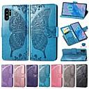 tanie Etui / Pokrowce do Samsunga Galaxy Note-etui do Samsung Galaxy Note 9 / Note 8 / Galaxy Note 10 portfel / etui na karty / odporne na wstrząsy etui pełne body jednolity kolor / motyl pu skórzane etui do Samsung Galaxy Note 10 / Galaxy Note