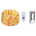 ieftine Benzi Lumină LED-10m Bare De Becuri LED Rigide / Fâșii de Iluminat 100 LED-uri SMD 0603 1 13 Comenzi de la distanță Alb Cald / Alb / Multicolor Rezistent la apă / USB / Petrecere 5 V / Alimentat USB 1 buc