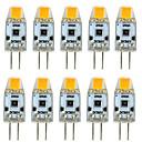ieftine Becuri LED Bi-pin-10pcs 3 W Becuri LED Bi-pin 300 lm G4 T 1 LED-uri de margele COB Intensitate Luminoasă Reglabilă Model nou Alb Cald Alb 12 V