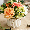 voordelige Matten & Kleedjes-Kunstbloemen 1 Tak Klassiek Europees Pastoraal Stijl Rozen Bloemen voor op tafel