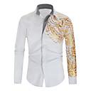 رخيصةأون قمصان رجالي-رجالي أناقة الشارع طباعة قميص, هندسي