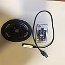 povoljno Fleksibilne LED svjetlosne trake-2m Savitljive LED trake / RGB svjetleće trake 60 LED diode SMD5050 17-ključni daljinski upravljač / 2 x USB priključna crta RGB USB / Party / Ukrasno USB napajanje 1set / IP65