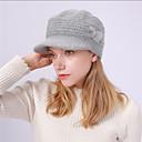 ieftine Pălării Femei-Pentru femei Mată De Bază,Acrilic-Floppy Iarnă Negru Roșu Vin Fucsia