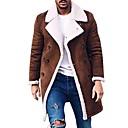 povoljno Men's Winter Coats-Muškarci Dnevno Proljeće & Jesen Dug Kaput, Jednobojni Klasični rever Dugih rukava Poliester Braon