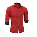 povoljno Muški sakoi i odijela-Majica Muškarci Dnevno Jednobojni Navy Plava / Dugih rukava