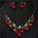ieftine Seturi de Bijuterii-Pentru femei Resin Lănțișor Geometric Vișiniu Stilat cercei Bijuterii Auriu Pentru Petrecere 1set / Cercei