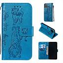 رخيصةأون أغطية أيفون-غطاء من أجل Apple اي فون 11 / iPhone 11 Pro / iPhone 11 Pro Max محفظة / حامل البطاقات / مع حامل غطاء كامل للجسم لون سادة / حيوان جلد PU