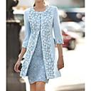 رخيصةأون ربطات العقدة-فستان نسائي قطعتين فوق الركبة لون سادة