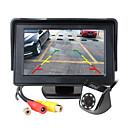 ieftine Cameră de Vedere Spate-Ziqiao monitor monitor LCD de 4,3 inci tft lcd mașină auxiliară parcare led lumină nocturnă set retrovizoare camera foto