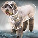 رخيصةأون أقراط-قط كلب معطف المطر سترة معطف واق من المطر الشتاء ملابس الكلاب أسود أبيض أرجواني كوستيوم طفل كلب صغير هاسكي لابرادور Malamute ألاسكا بلاستيك لون سادة شفاف مقاومة الماء كوول XS S M L XL XXL