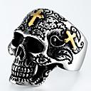 povoljno Prstenje-Muškarci Prsten 1pc Srebro Legura Nepravilan Vintage Punk pomodan Dnevno Jewelry Vintage Style Kereszt Lubanja