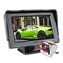 رخيصةأون جهاز فيديو DVR للسيارة-ziqiao 4.3 بوصة tft شاشة lcd رصد سيارة وقوف السيارات المساعدة ir ضوء للرؤية الليلية كاميرا الرؤية الخلفية