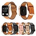 voordelige Apple Watch-bandjes-44 mm / 42 mm / 40 mm / 38 mm mat kalf lederen band polsband met veilige metalen gesp gesp compatibel voor Apple Watch-serie