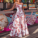 رخيصةأون وسائد-فستان نسائي ثوب ضيق طويل للأرض ورد